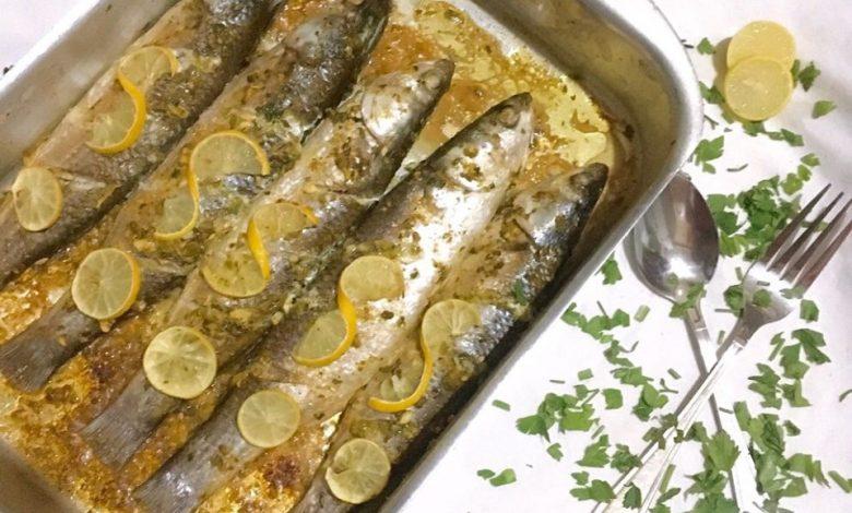طريقة عمل سمك بوري بالزيت والليمون